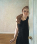 """Self Portrait by the Door""